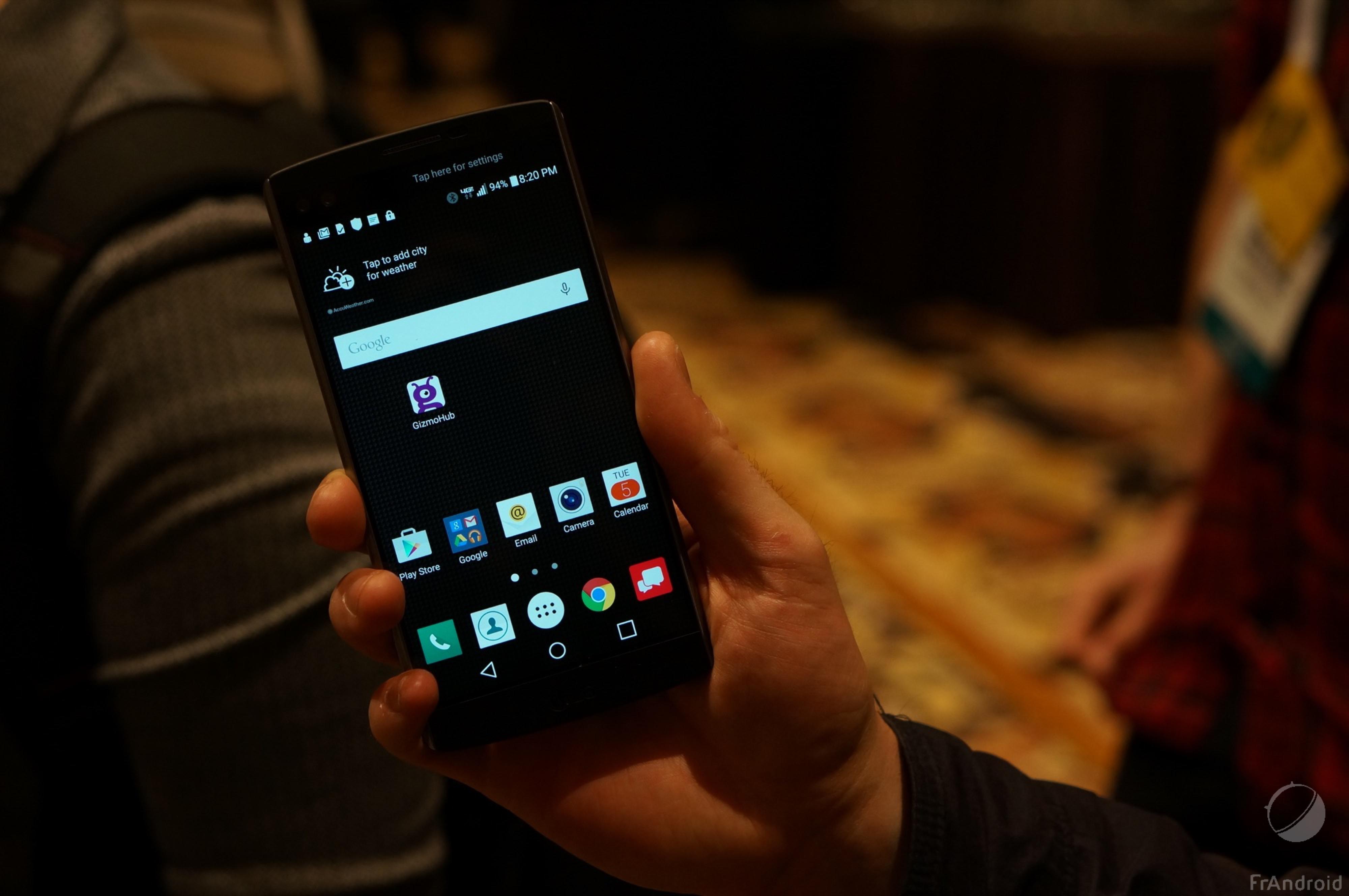 Prise en main du LG V10, celui que l'on ne verra jamais ...