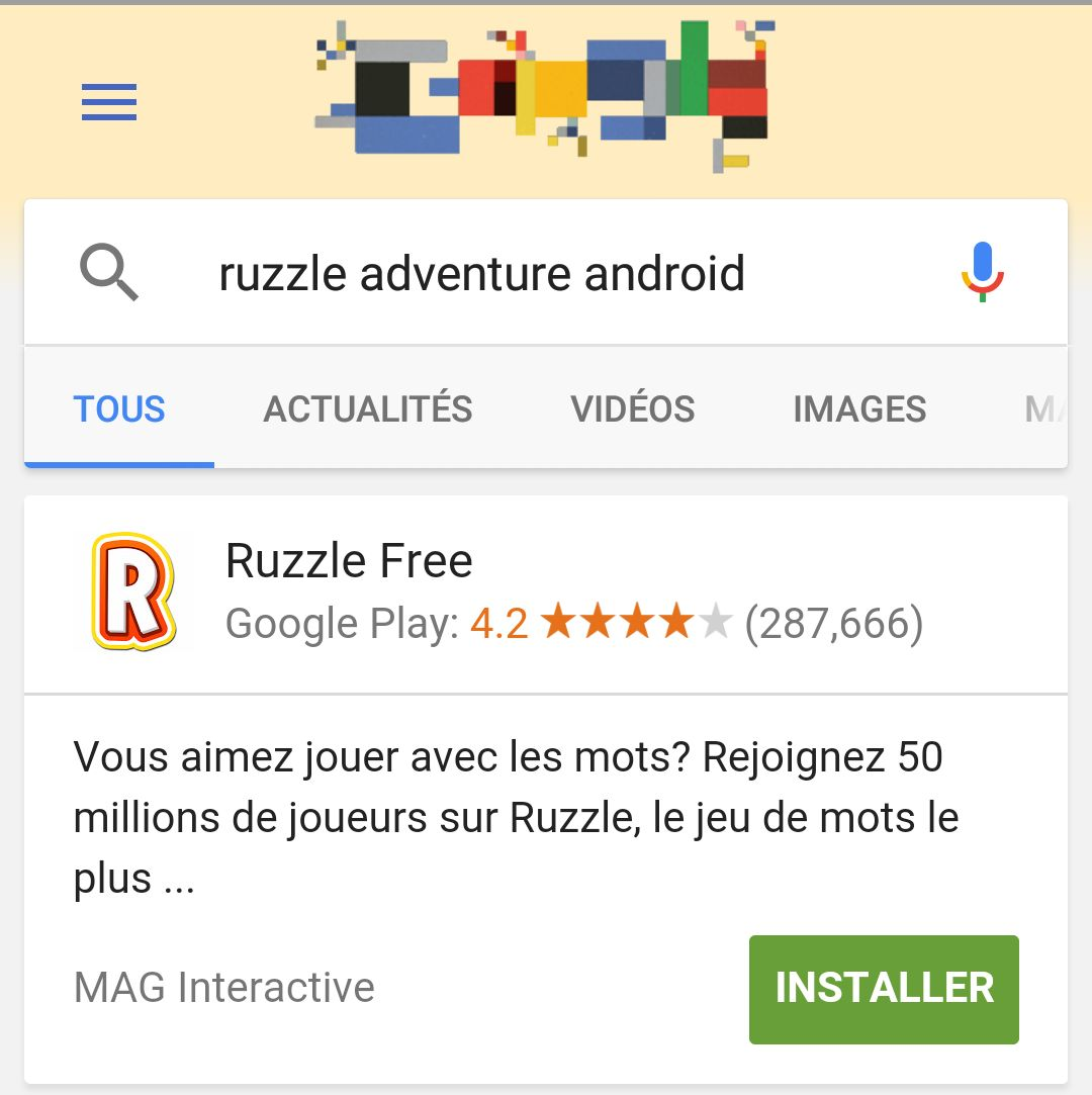 recherche google search app