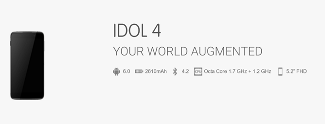 alcatel onetouch idol 4 2