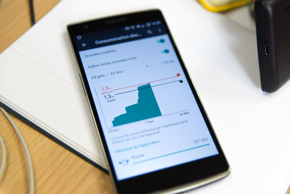 consommation données Android (1 sur 1)