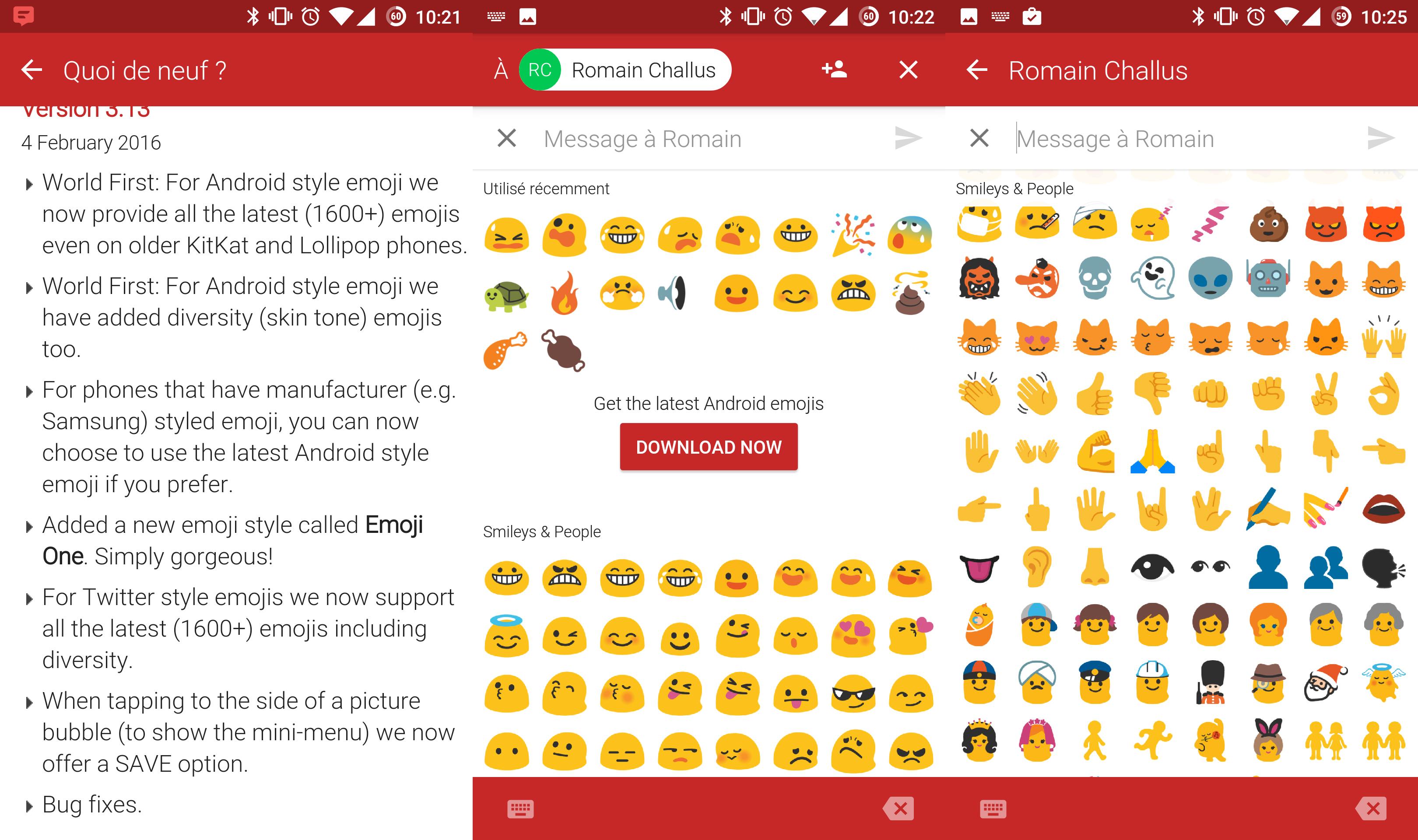 textra sms tous les nouveaux emojis sont l frandroid. Black Bedroom Furniture Sets. Home Design Ideas