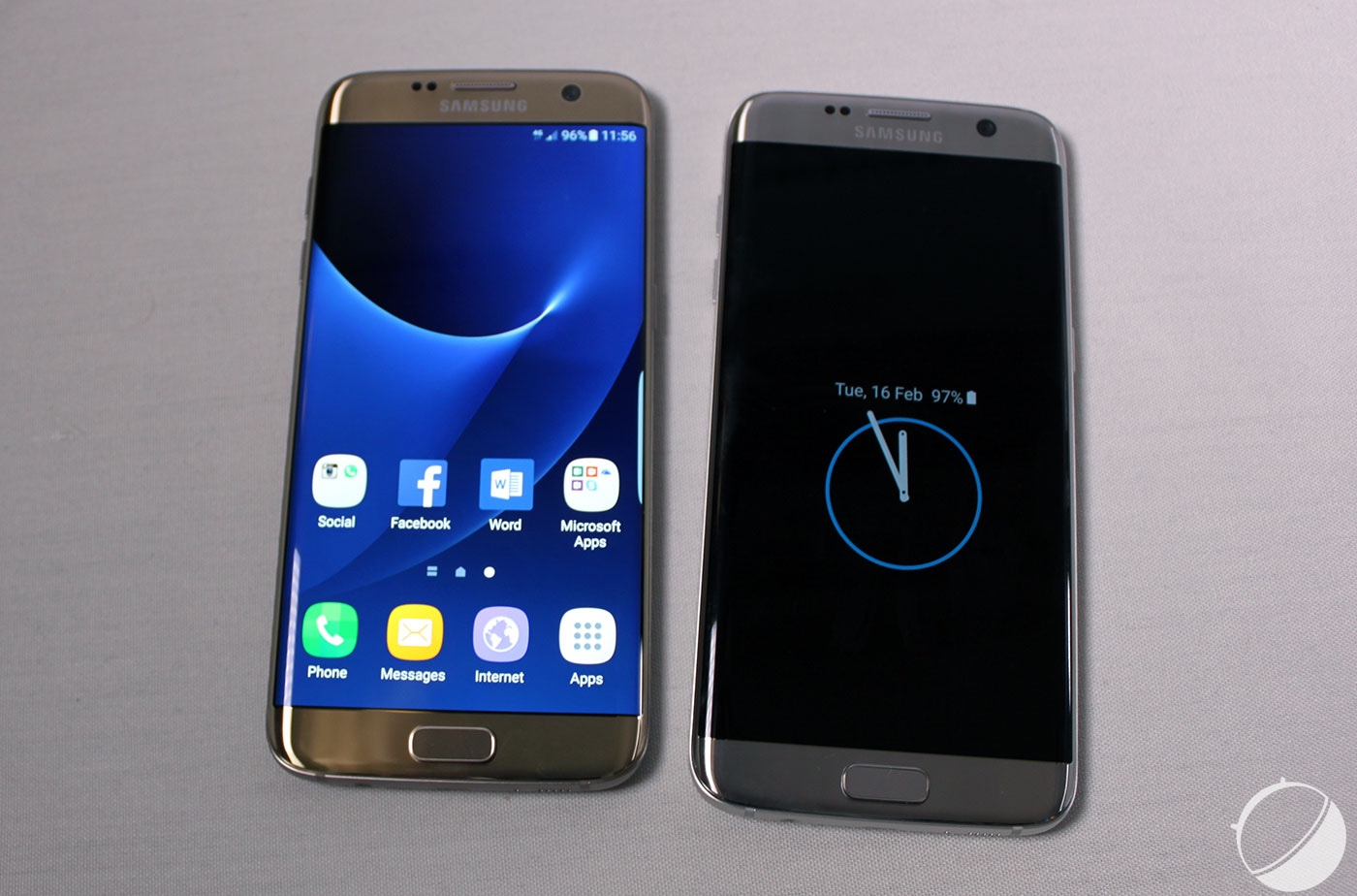 Prise en main du samsung galaxy s7 edge tout d 39 un grand for Photo ecran galaxy s7