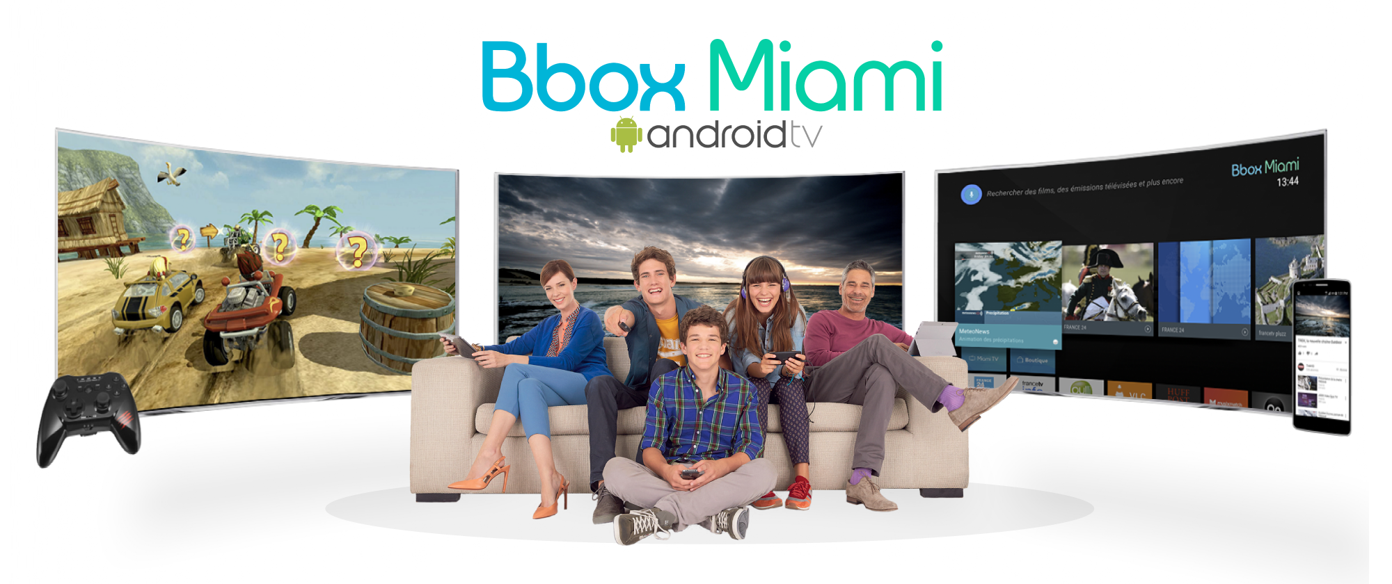 bbox miami le b ta test d 39 android tv enfin lanc pour 700 chanceux frandroid. Black Bedroom Furniture Sets. Home Design Ideas