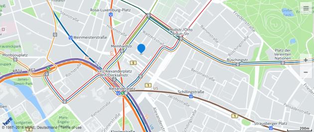 Here Maps Berlin
