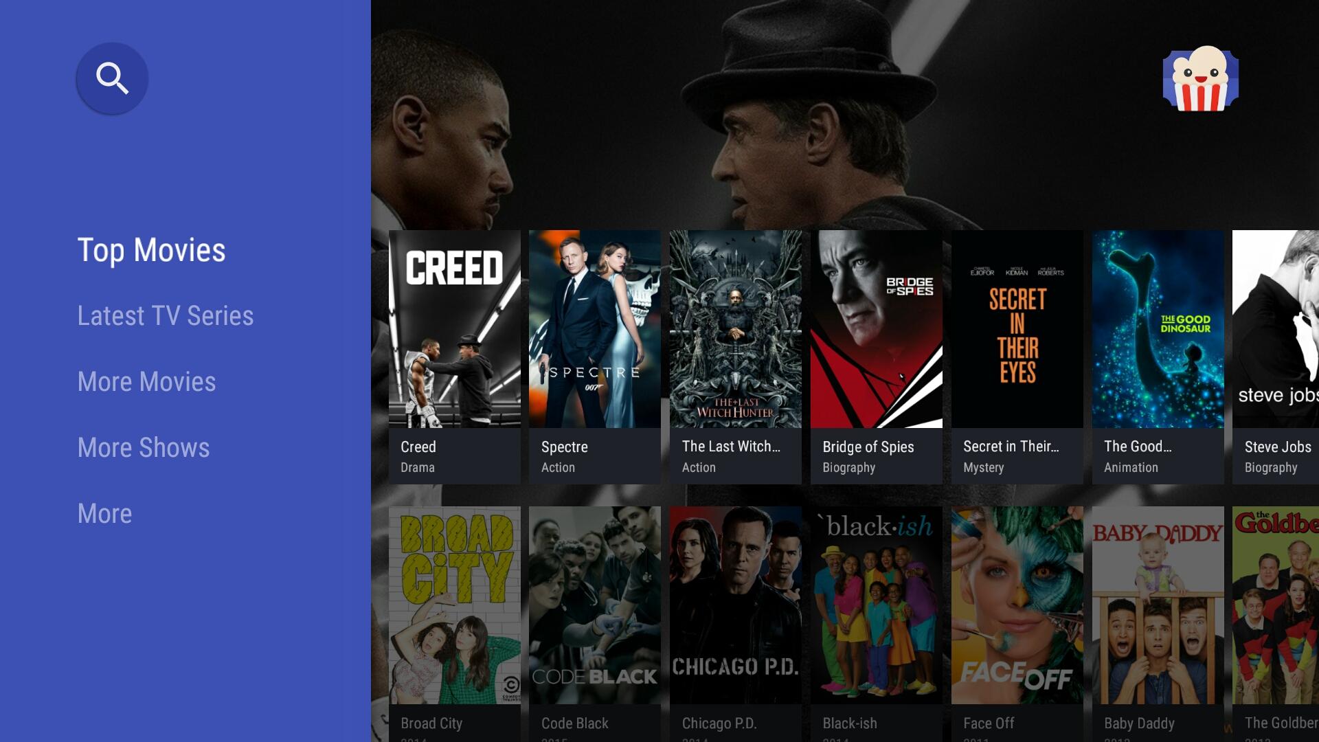 Popcorn Time est de retour, fonctionnel sur Android TV mais