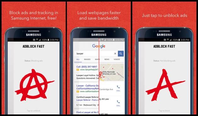Samsung adblock fast
