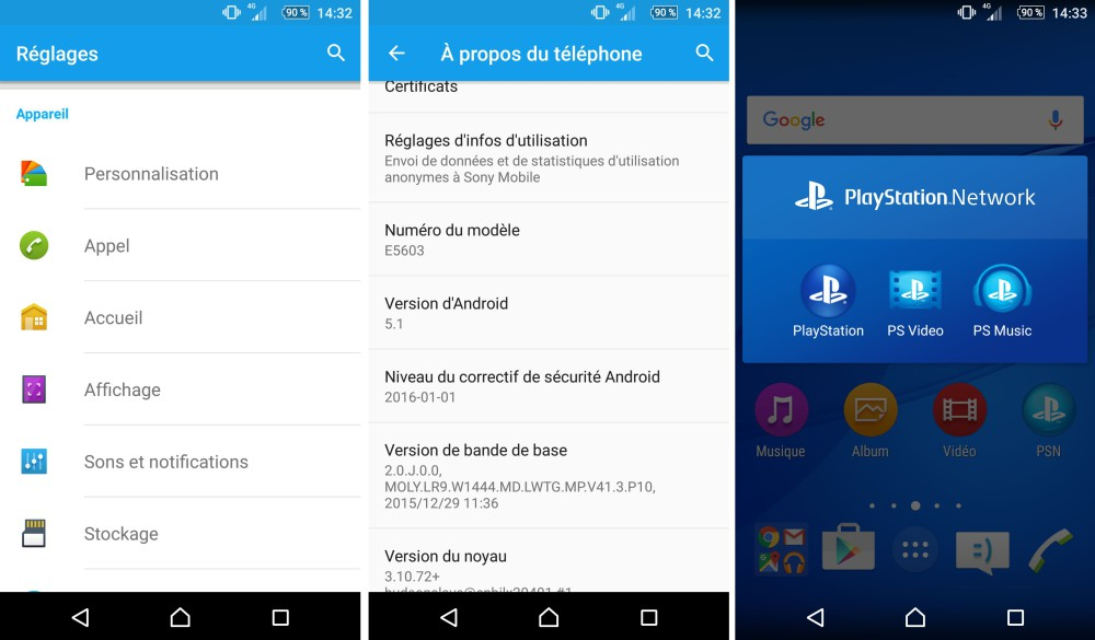 test sony xperia m5 frandroid logiciel 2