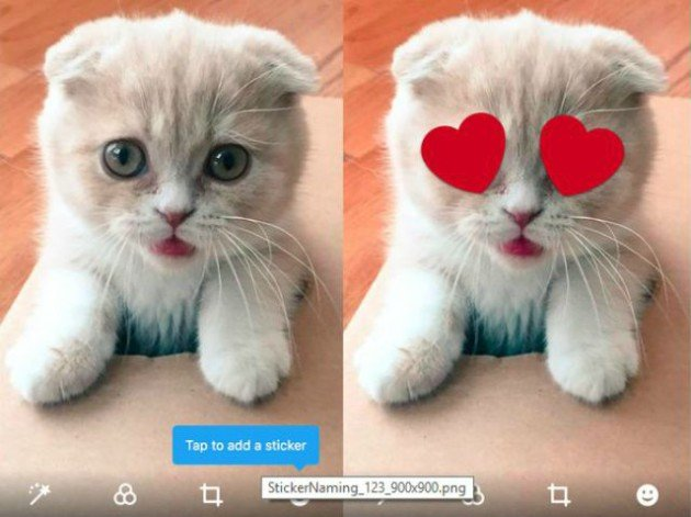 chat stickers twitter