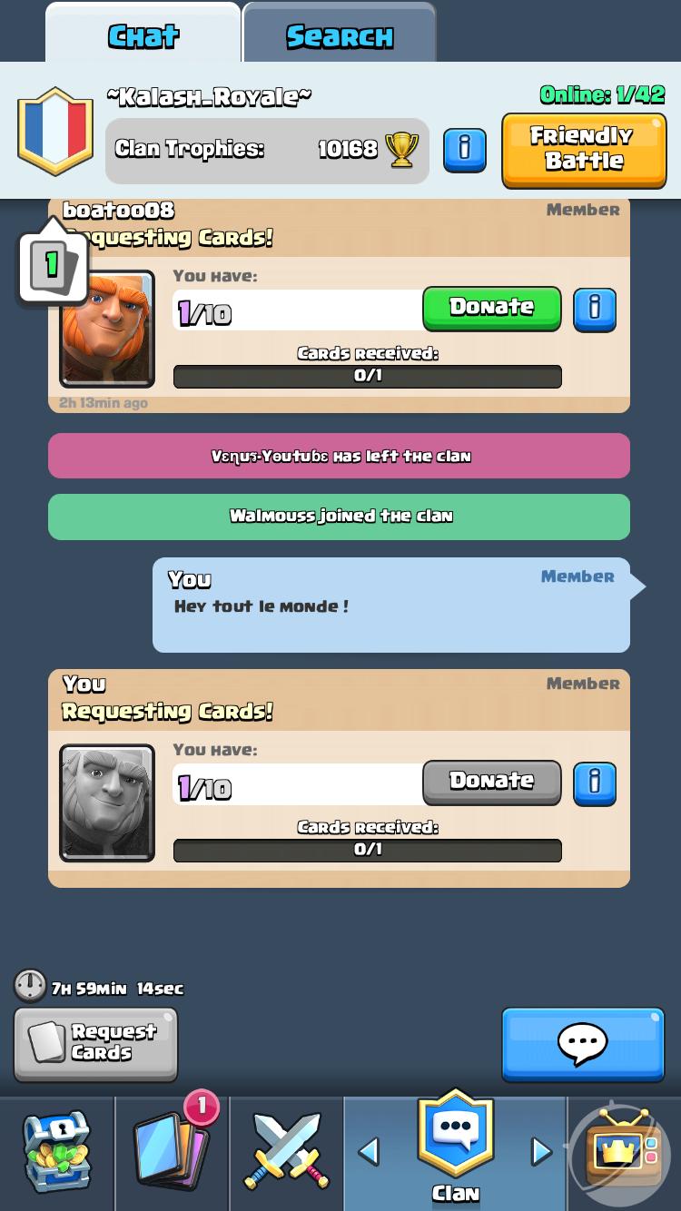 Clash Royale Donation & Partage