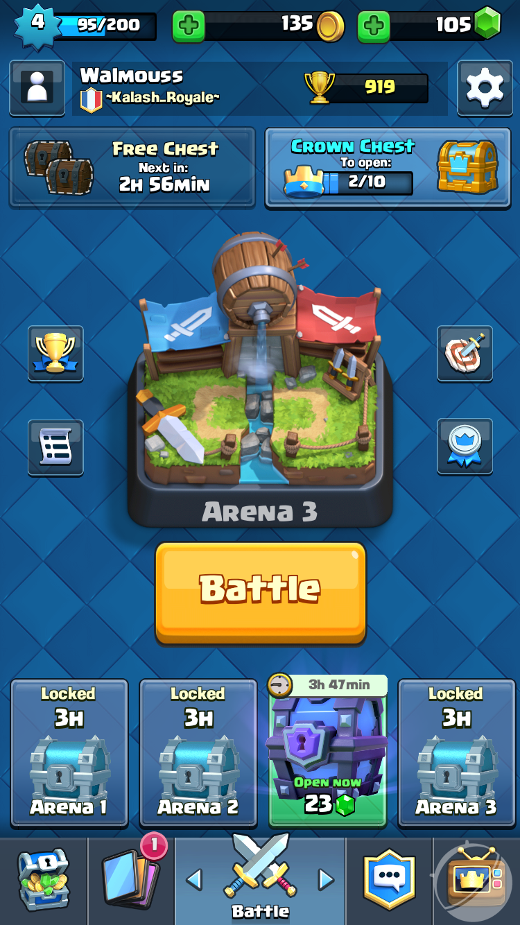 Clash Royale Coffre Couronne