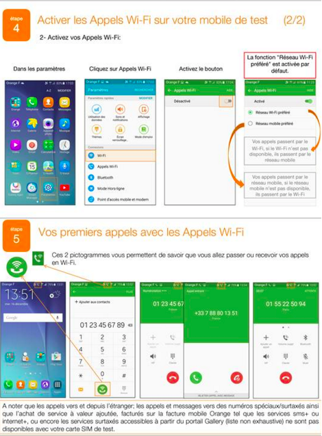 appel wifi orange android