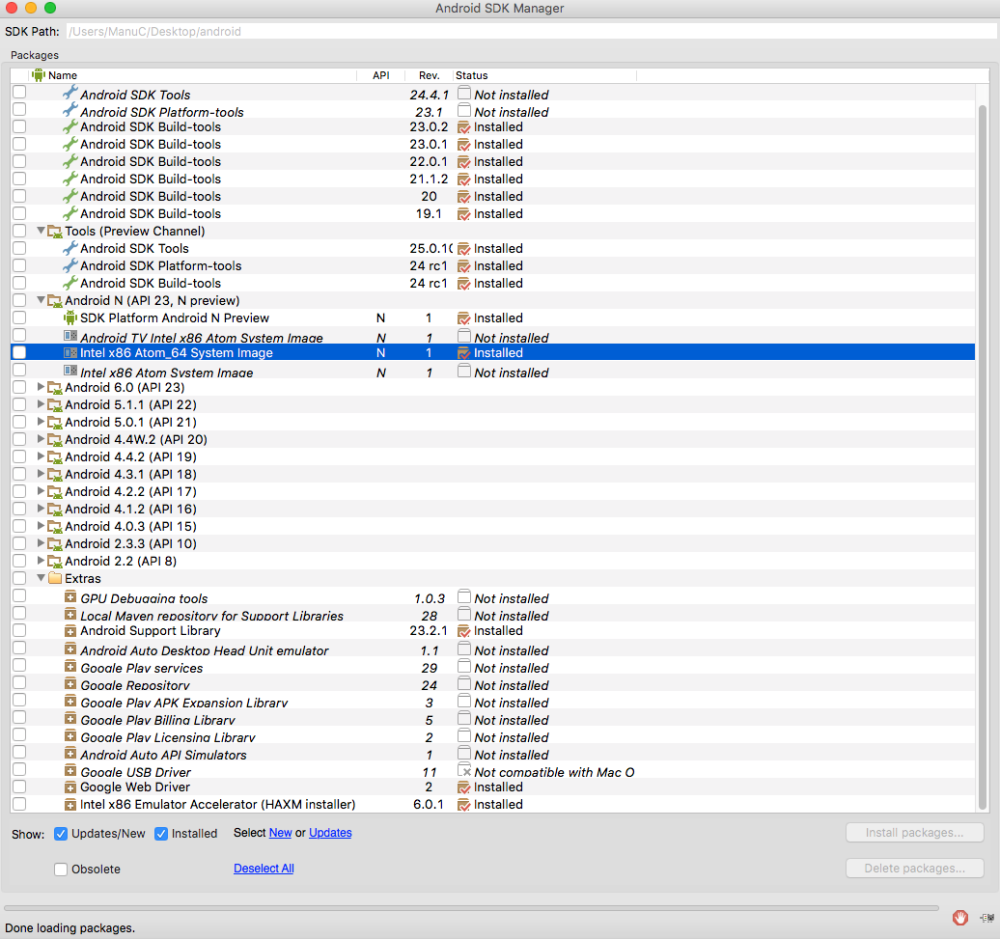 faire dossier android ics installer