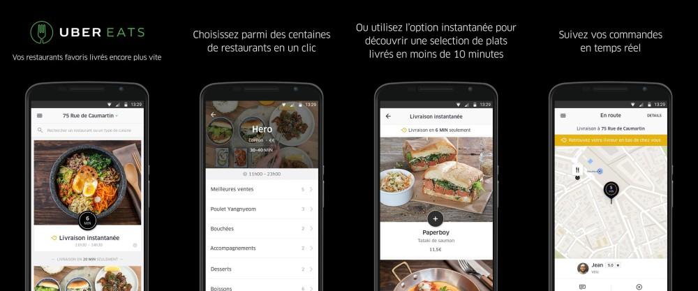 uber eats se dote d 39 une application d di e frandroid. Black Bedroom Furniture Sets. Home Design Ideas