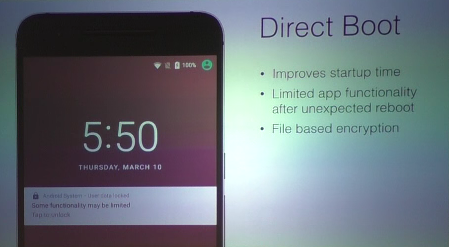 Android N Direct Boot