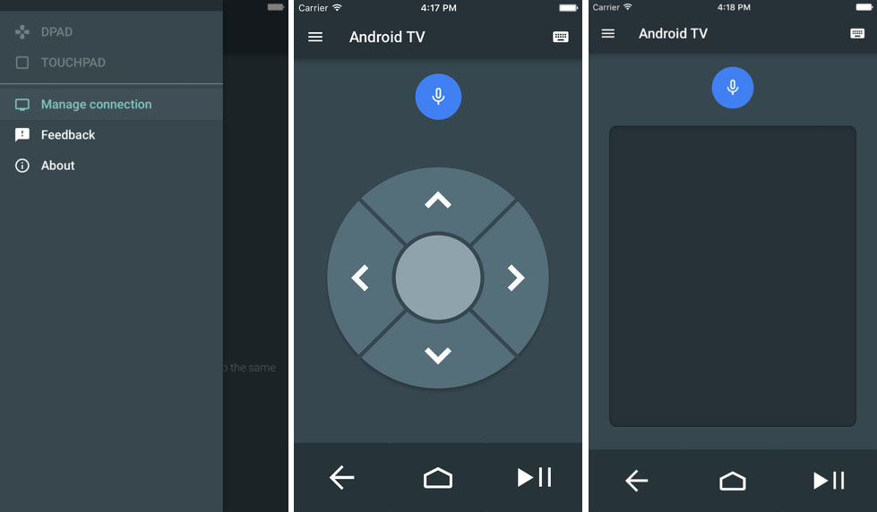 android-tv-remote-controle-ios