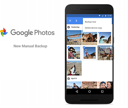 Google Photos manual backup