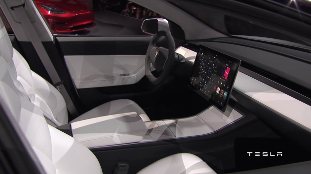 Tesla Model 3 planche de bord