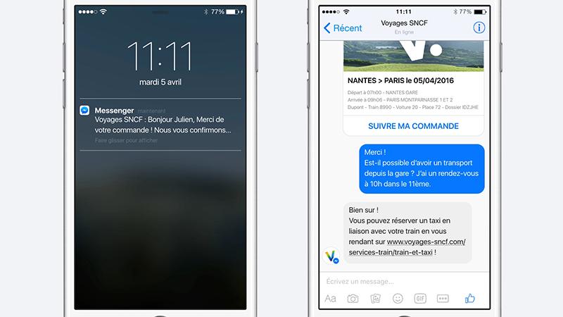 quand facebook messenger vient compl ter l 39 app voyages sncf frandroid. Black Bedroom Furniture Sets. Home Design Ideas