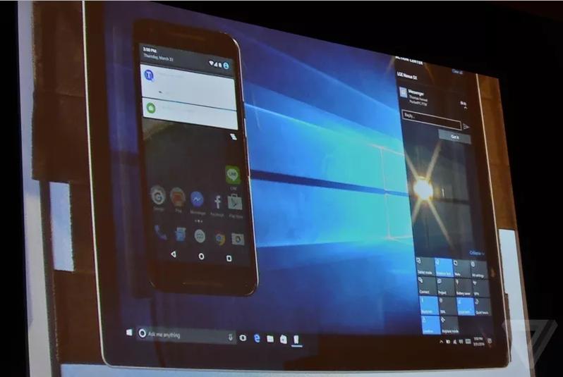 windows 10 notif android