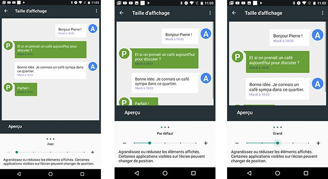 Android N Permet De Modifier Avec Finesse La Taille De L Affichage