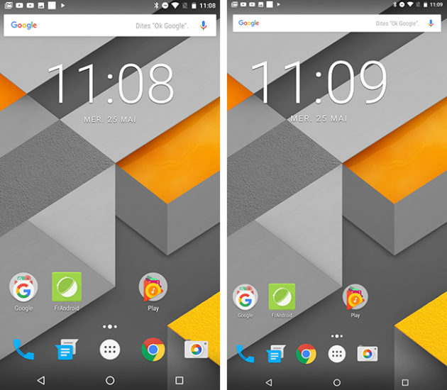 Android N taille d'affichage