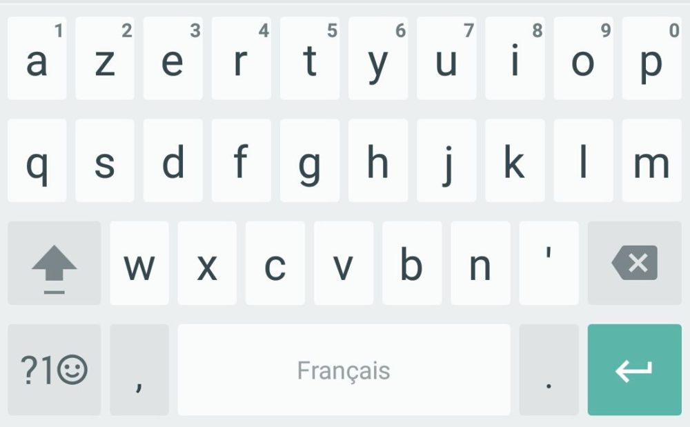 clavier google 5-0