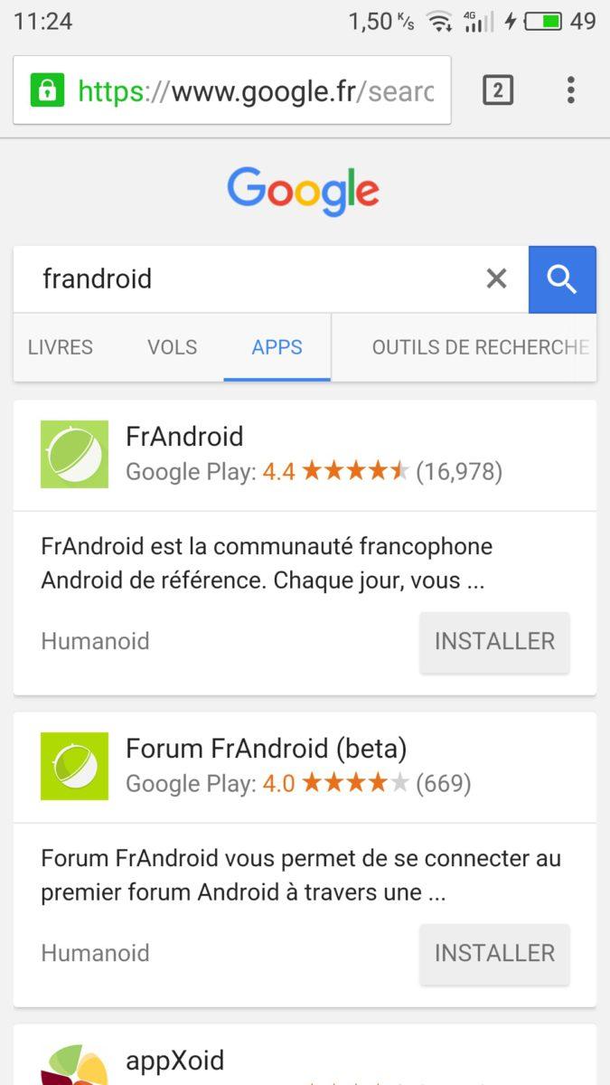 onglet app google 2