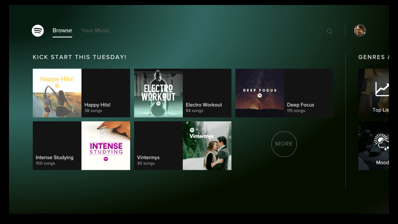 Spotify Publie Son Application Pour Android Tv Frandroid