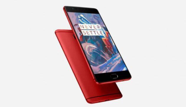 OnePlus 3 Rouge