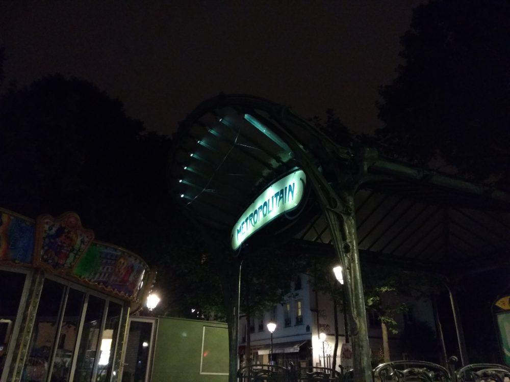 De nuit, en mode automatique