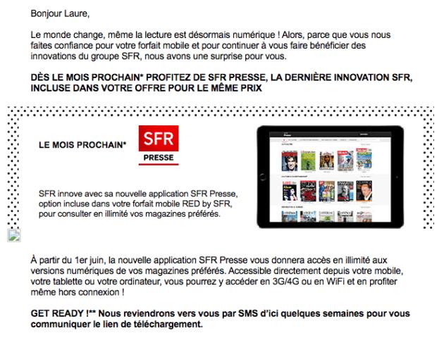 SFR Presse SFR RED
