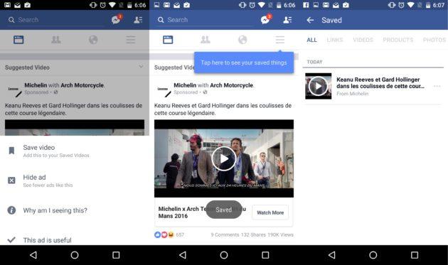 Facebook propose le visionnage de vidéo hors ligne
