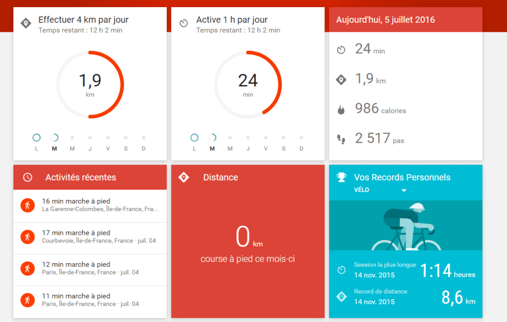 google fit web