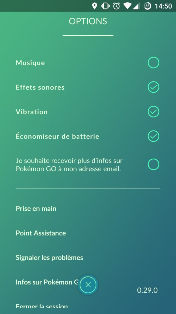 option eco ernergie pokemon go