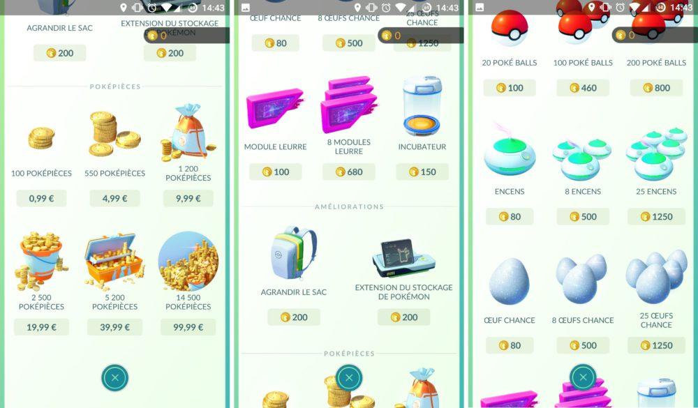 pokemon go boutique