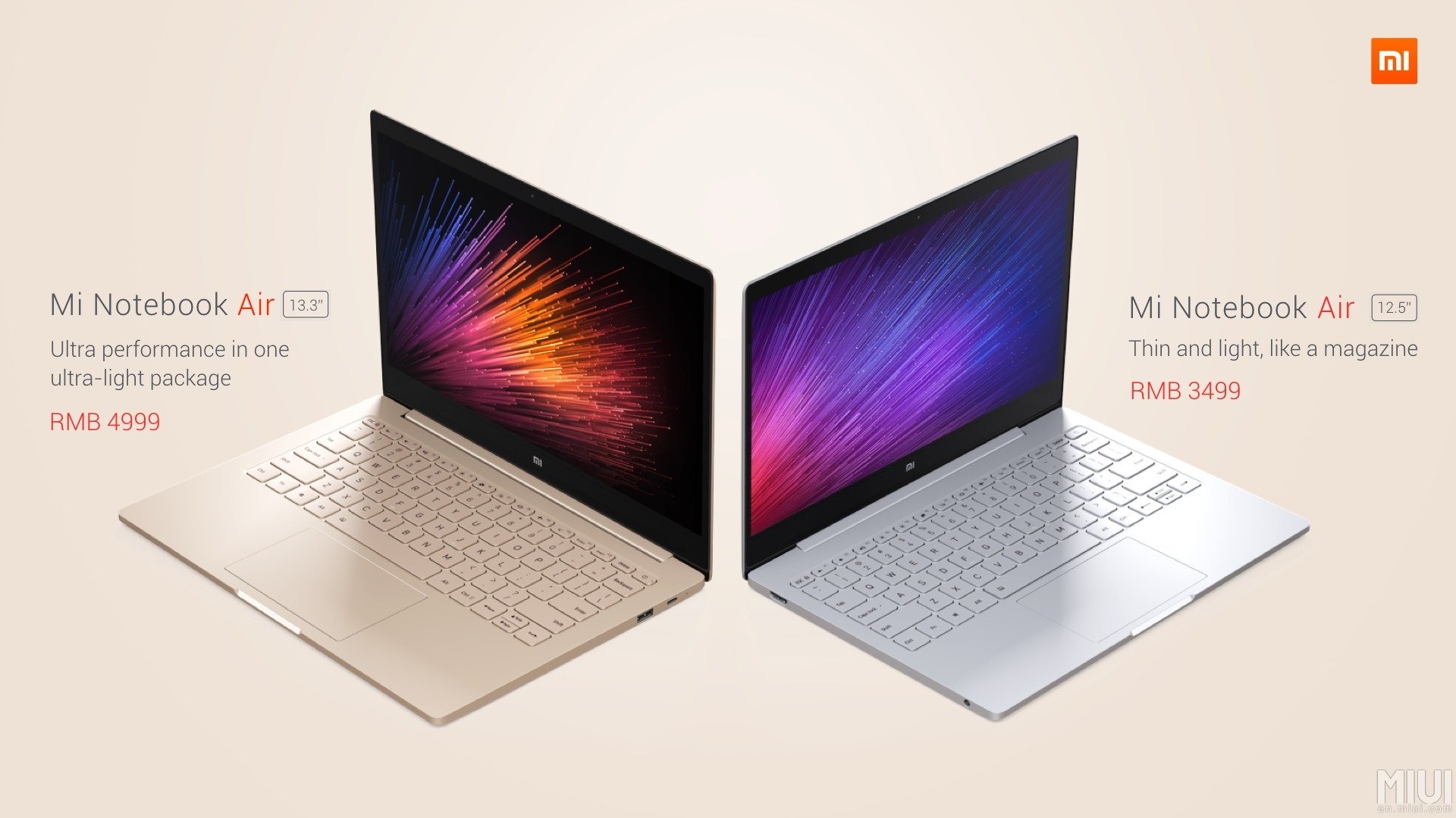 Xiaomi Mi Notebook Air : deux ordinateurs portables aux allures de