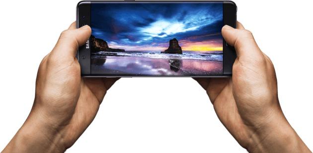Galaxy Note 7 écran 2