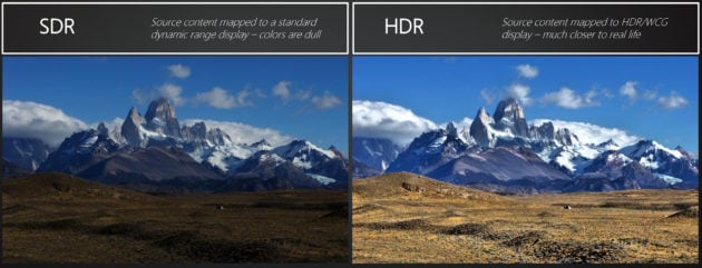 SDR vs HDR