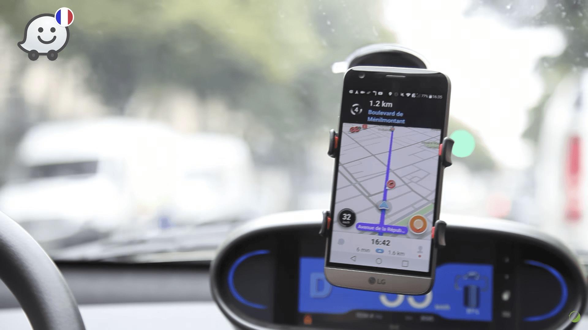 Waze indique les routes enneigées et déblayées