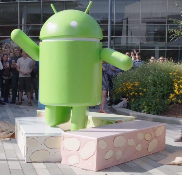 Bugdroid Android Nougat