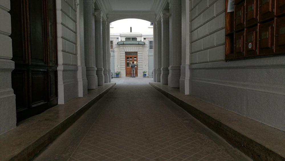 Entrée d'immeuble Honor 8