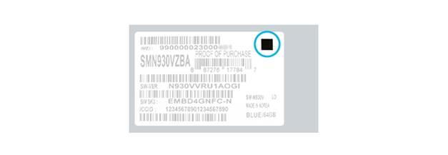 Galaxy Note 7 S France carré noir