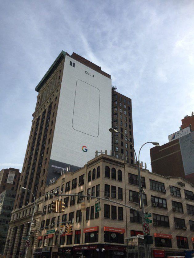 Google Pixel 4 octobre New York pub