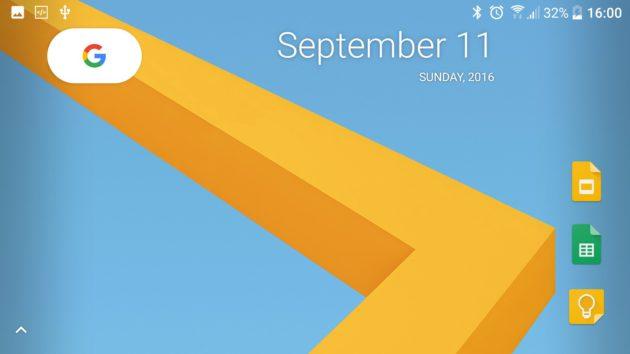 Google Pixel Launcher desktop paysage
