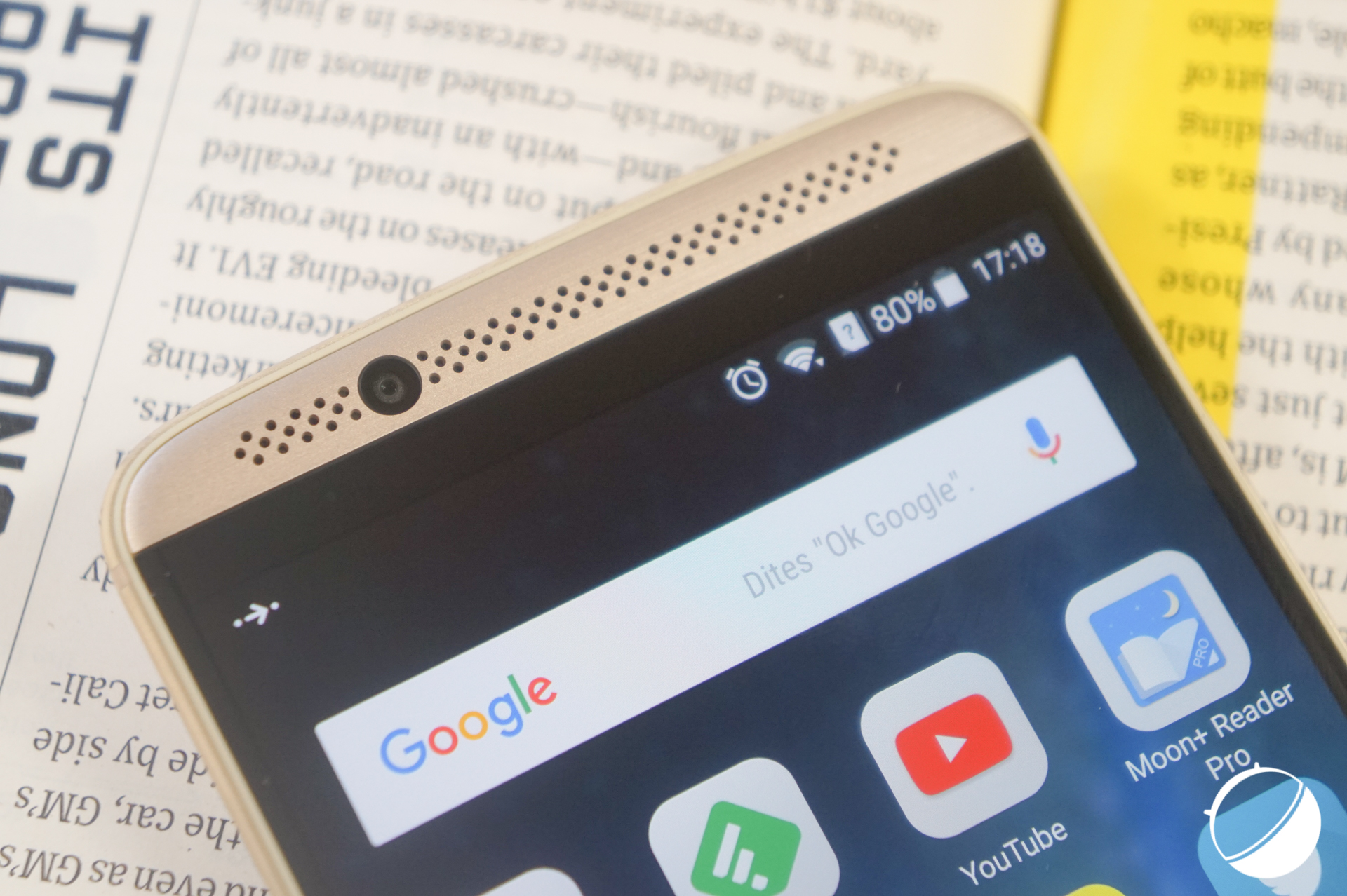 currently test du zte axon 7 one the