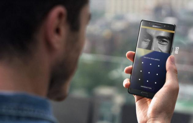L'arrivée du scanner d'iris sur les Galaxy Note 7 avait fait grand bruit… et puis ils se sont mis à exploser…