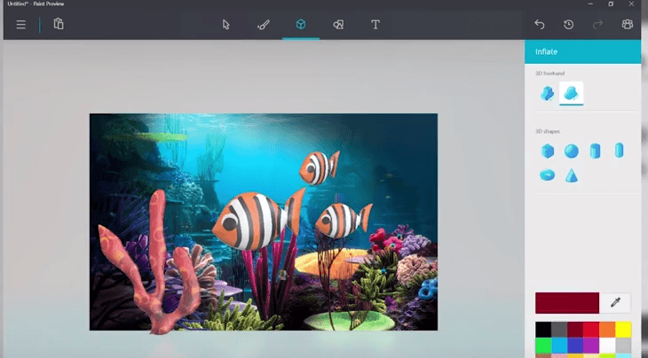 Microsoft paint 3d est disponible avec une surprise pour for How to paint 3d