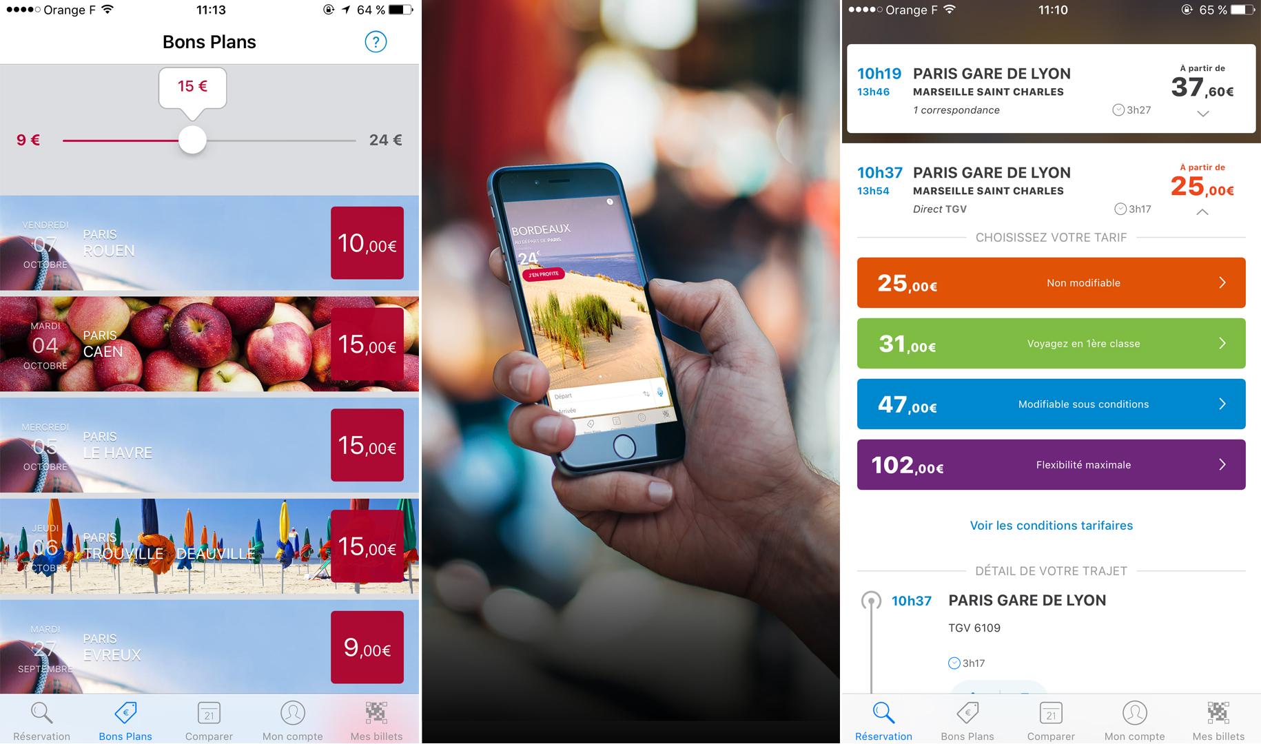 voyages sncf une application qui tait bas e sur android 2 0 frandroid. Black Bedroom Furniture Sets. Home Design Ideas