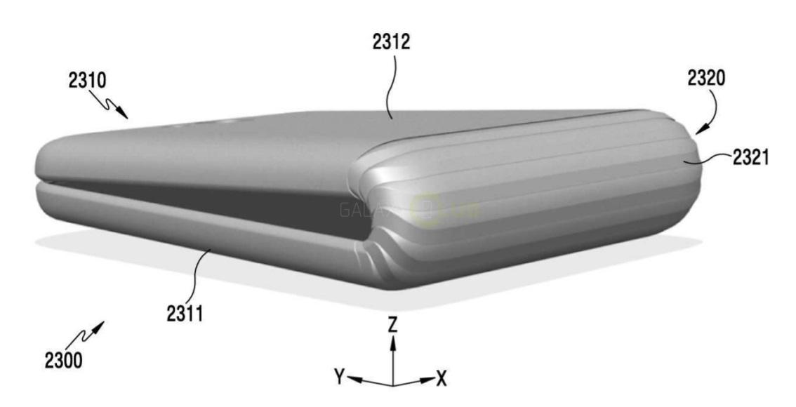 Samsung dépose un brevet concernant un smartphone pliable