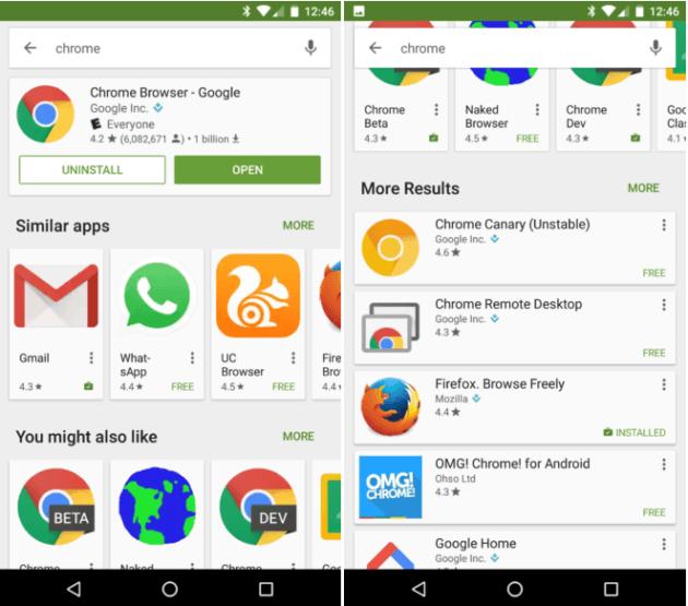 google-play-recherche-interface